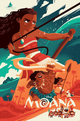 Cyclops Print Works Print #49: Moana by Tom Whalen