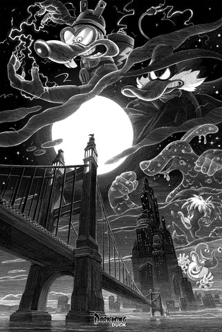"Cyclops Print Works Print # 69 -  Darkwing Duck ""The Terror that flaps in the Night"" -  By Nico Delort"