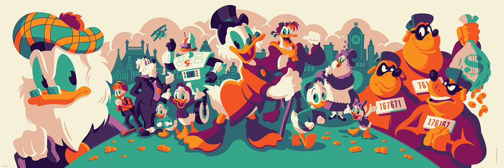 Cyclops Print Works Print # 71 - Ducktales (Flintheart Glomgold Edition) - By Tom Whalen