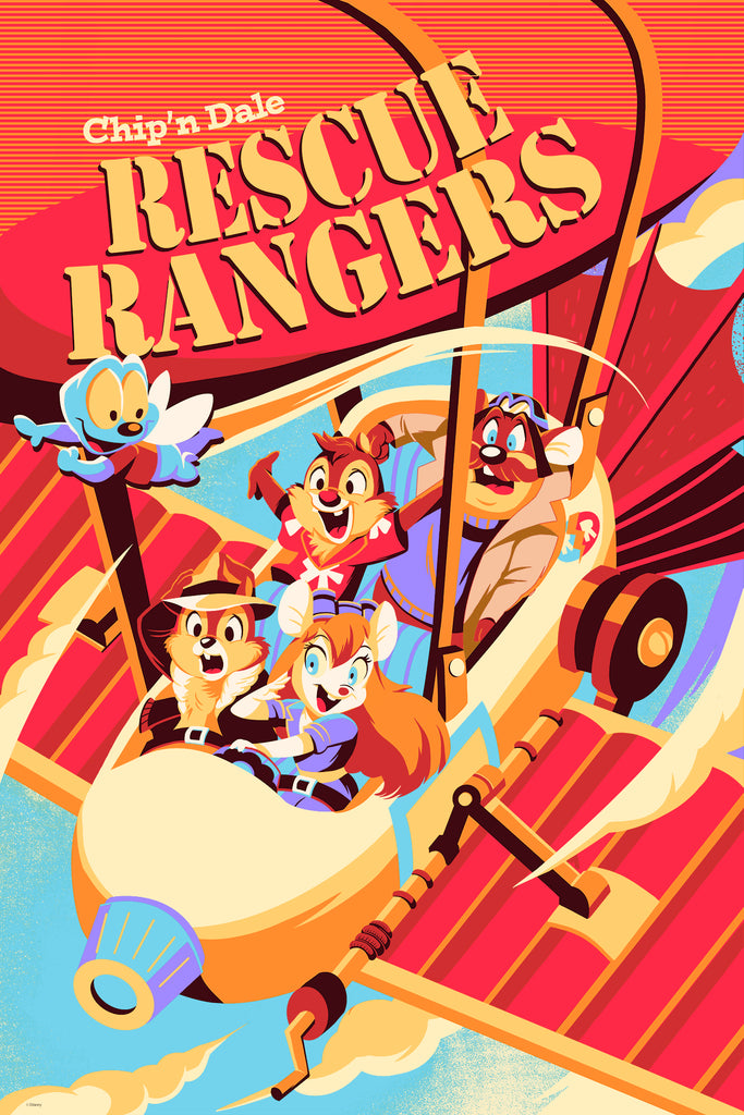 Cyclops Print Works Print # 72 - Rescue Rangers - By Hackto Oshiro
