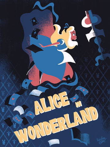Cyclops Print Works Print #22: Alice in Wonderland by Lorelay Bové