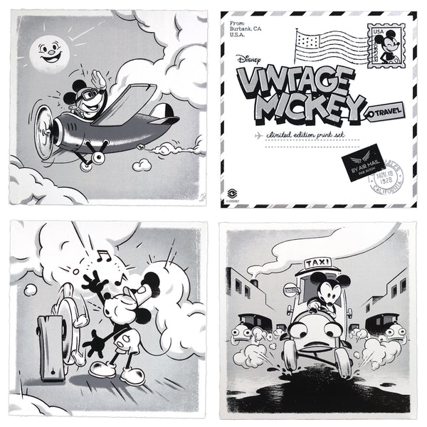 Vintage Mickey Travel (3 Print Set) by Ameorry Luo