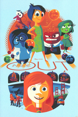 Cyclops Print Works Print #32V: Inside Out Sadness Variant Edition By Tom Whalen