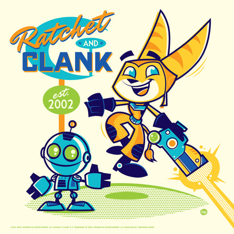 Cyclops Print Works x Sony Interactive #01 – Ratchet and Clank by Dave Perillo