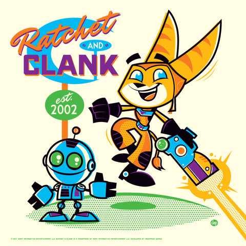 Cyclops Print Works x Sony Interactive #01V– Ratchet and Clank by Dave Perillo