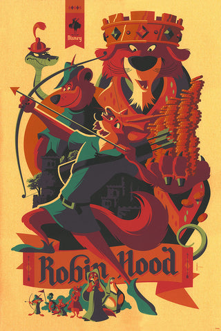 Cyclops Print Works Print #16V: Robin Hood Variant of Gold by Tom Whalen