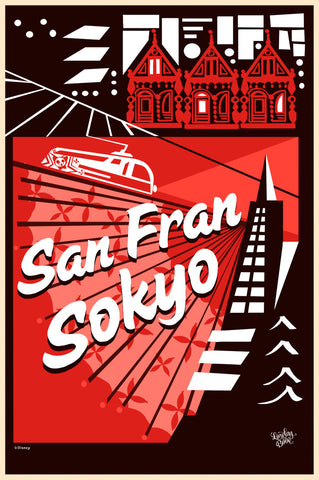 Cyclops Print Works Print #14: San Fransokyo (Big  Hero 6) by Lorelay Bové