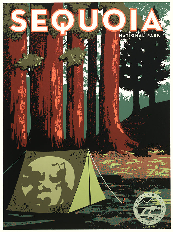 Sequoia Travel Poster by Bret Iwan