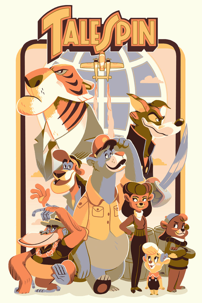 "Cyclops Print Works Print # 75 - TaleSpin ""Spin it"" By Glen Brogan"