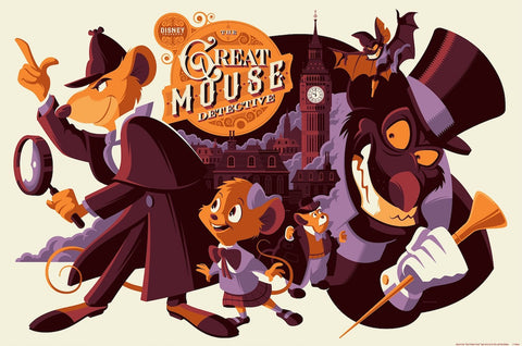 Cyclops Print Works Print #50: The Great Mouse Detective by Tom Whalen