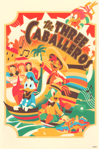 Cyclops Print Works Print #68 : The Three Caballeros by Hackto Oshiro