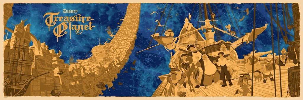 Cyclops Print Works Print #54: Treasure Planet by Joe Dunn