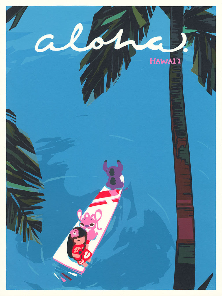 Cyclops Print Works #92 – Lilo and Stitch 'Hawaii' – by Xinwei Huang