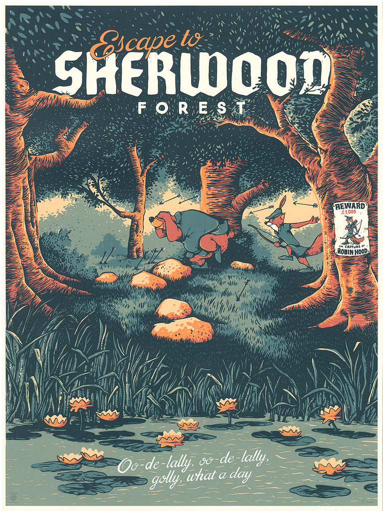 "Cyclops Print Works #97 – Robin Hood ""Sherwood Forest"" – by Adam Johnson"