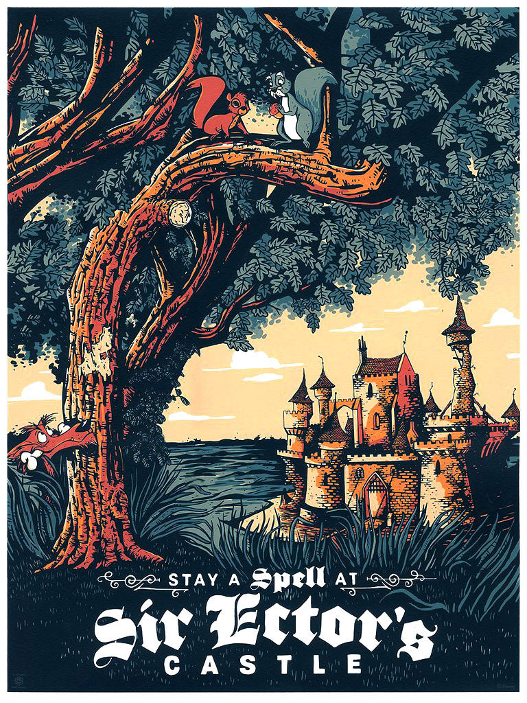 "Cyclops Print Works #98 – Sword in the Stone ""Sir Ector's Castle"" – by Adam Johnson"