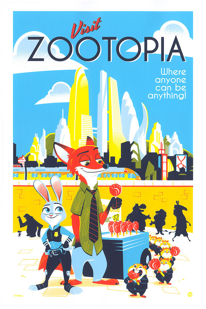 Cyclops Print Works #96 – Zootopia – by Dave Perillo