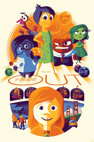 Cyclops Print Works Print #32: Inside Out By Tom Whalen