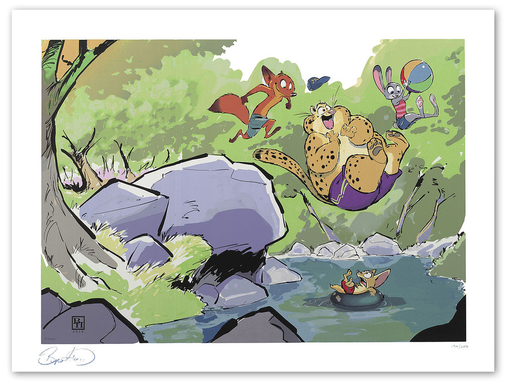 Cyclops Print Works Print #40: Summer in Zootopia by Byron Howard