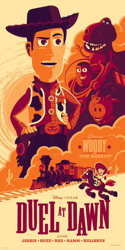 Cyclops Print Works Print #30V: Duel at Dawn (Toy Story 3) Evil Dr. Porkchop Variant by Tom Whalen