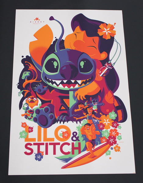 Cyclops Print Works Print #04: Lilo & Stitch by Tom Whalen