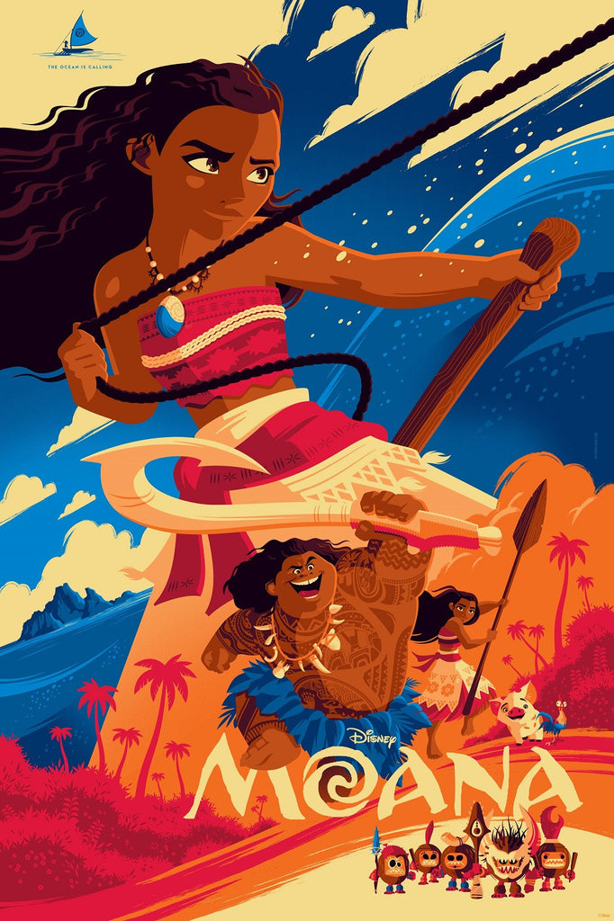 Cyclops Print Works Print #49V: Moana Variant Dawn Edition by Tom Whalen