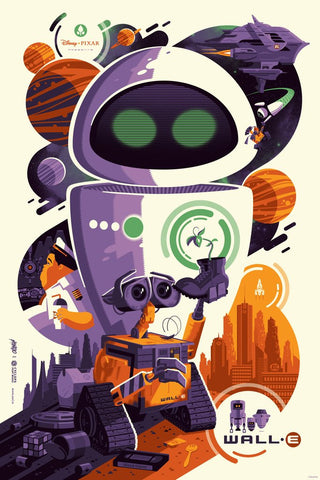 Cyclops Print Works X Mondo Collaboration Print #02: WALL·E by Tom Whalen