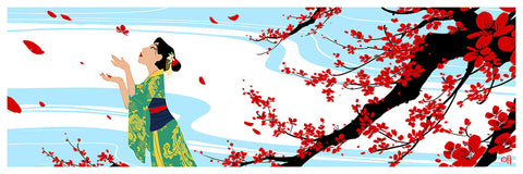 Cyclops Print Works Print #23: Cherry Blossoms (Mulan) by Mingjue Helen Chen