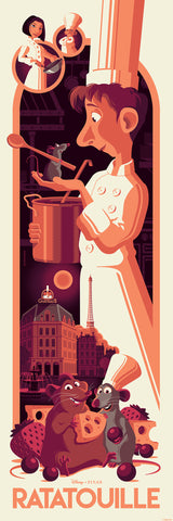 Cyclops Print Works Print # 76 Ratatouille - Regular Edition - by Tom Whalen