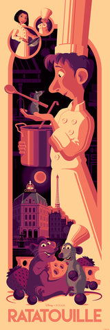 "Cyclops Print Works Print # 76V - Ratatouille ""Midnight in Paris"" Edition by Tom Whalen"