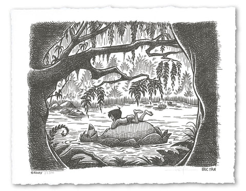 Cyclops Print Works Print #L01: Lazy River Day (The Jungle Book) by Eric Tan