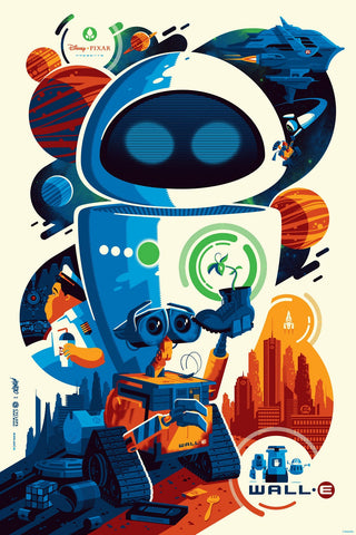 Cyclops Print Works X Mondo Collaboration Print #02V: WALL·E Variant Edition by Tom Whalen
