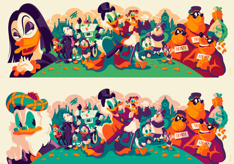 Cyclops Print Works Print -Ducktales Uncut Edition- By Tom Whalen