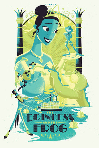 Cyclops Print Works Print #55V: The Princess and the Frog Variant Edition by Josh Holtsclaw