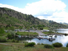 Dock work on Holter, Hauser lakes