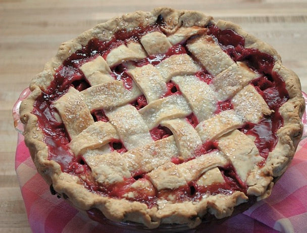 A cherry pie from Bernices Bakery in Missoula.