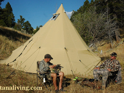 Camping in Style: a new way to get in a tipi
