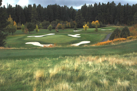 No. 12 golf hole at Buffalo Hill Golf Club in Kalispell Montana, photo by David Reese, Montana Living