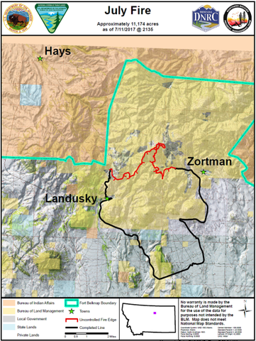 zortman landusky fire map