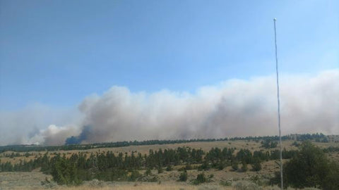 miles city lodgepole complex wide angle forest fire montana