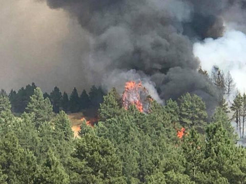 miles city lodgepole complex forest fire