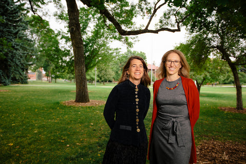 Caption: Montana State University faculty Elizabeth Shanahan, left, associate professor of political science and Raina Plowright, assistant professor of microbiology, received $1.65 million from the National Science Foundation to research the ways human activity contributes to the spread of infectious diseases. MSU Photo by Adrian Sanchez-Gonzalez<o:p></o:p>