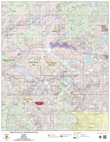 NORTHWEST MONTANA FIRE MAP JULY 17 2017