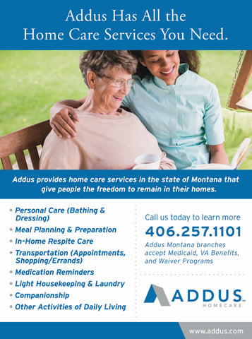 addus healthcare, home care in montana, montana living
