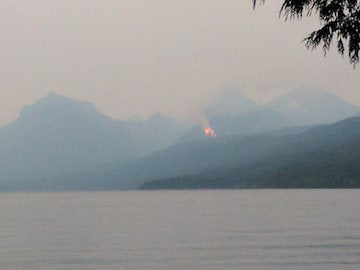 fire at lake mcdonald glacier national park aug 10 2017