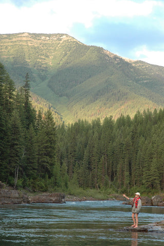 hanna reese flyfishing middle fork of the flathead river, montana living photo by david reese