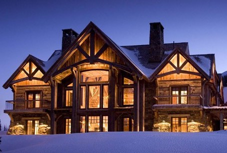 Photo courtesy Bitterroot Design Group berman timber frame home montana living