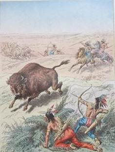 buffalo hunters art work montana living