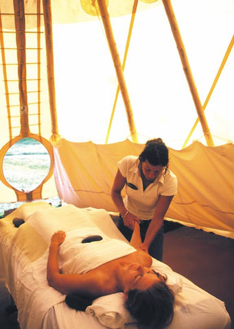 a massage at chico hot springs montana tipi romantic destination