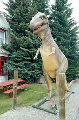 A dinosaur statue in Choteau, Montana. David Reese photo