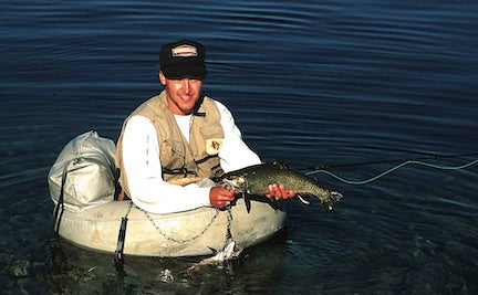 fly fishing rainbow trout, georgetown lake, pintler scenic highway route one, montana living great drives
